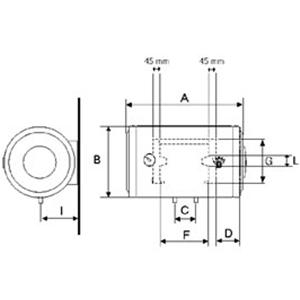 Articolo se0080c2o sx scaldabagno elettrico orizzontale sinistro bandini braun da 80 litri 2 - Valvola di sicurezza scaldabagno elettrico ...